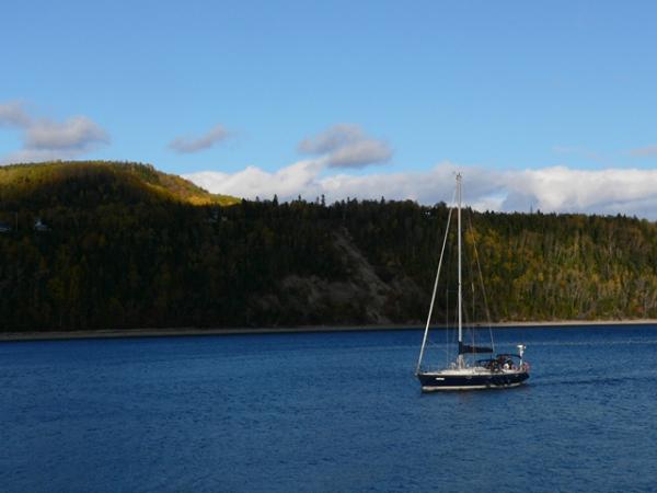 Sur le lac Saint-Jean (Québec)