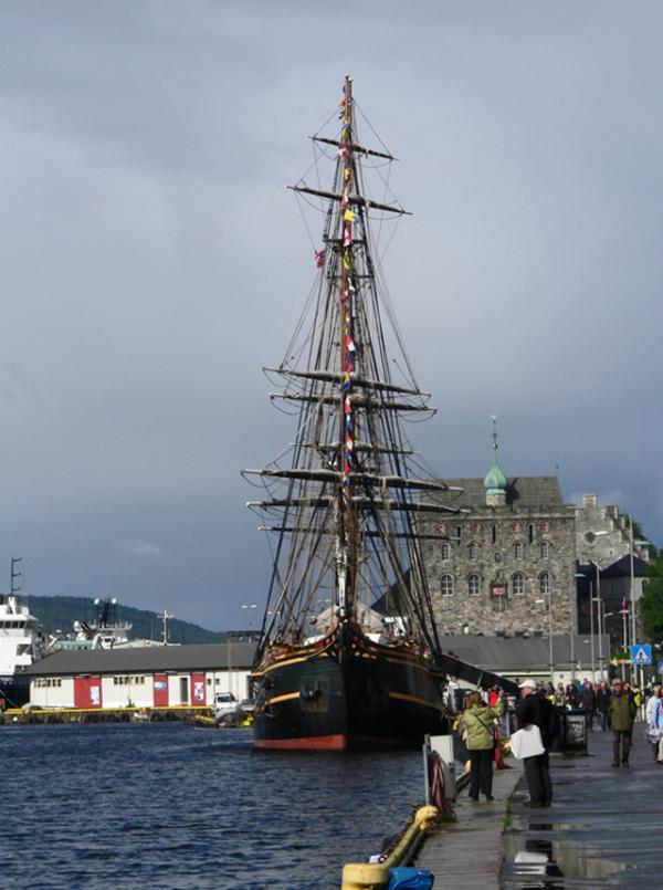 Dans le port de Bergen