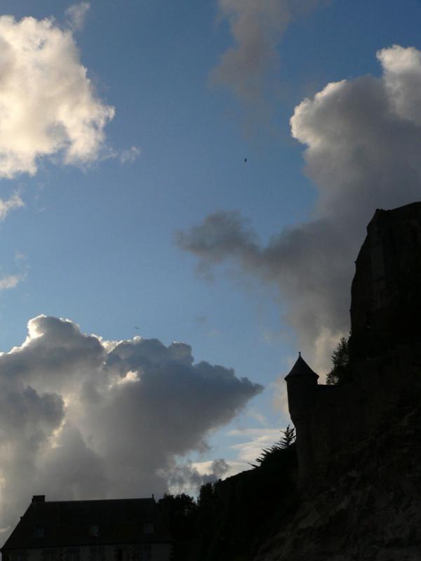 Contre-jour au Mont-Saint-Michel