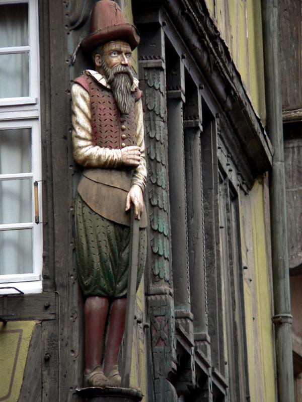 Détail d'une façade alsacienne
