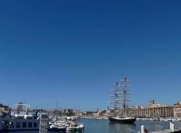 Le vieux port à Marseille