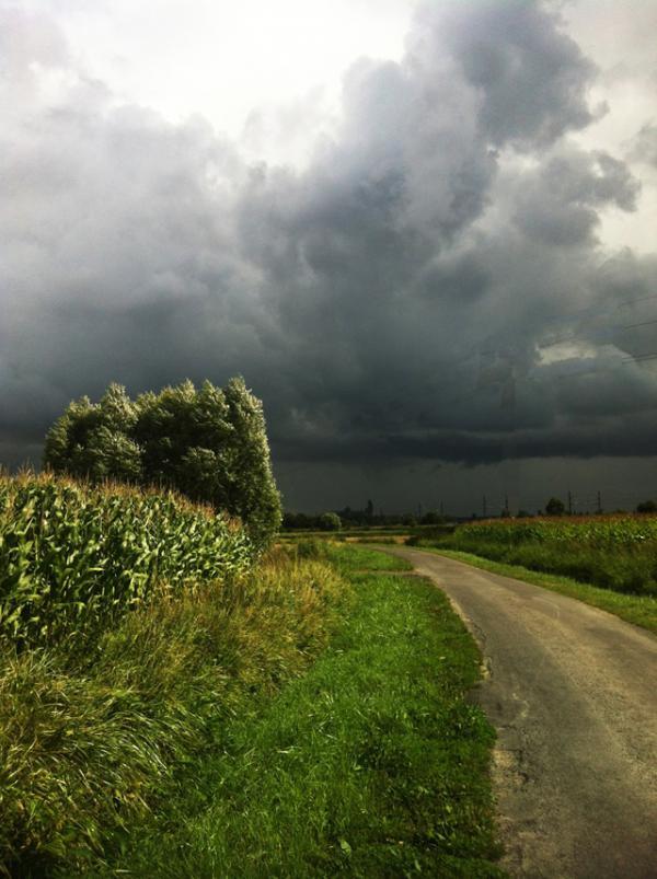 Orage sur le Chemin Vert à DOL de Bretagne