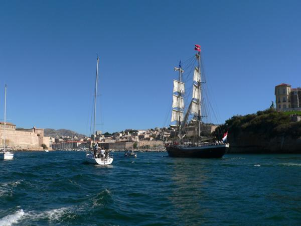 Dans le port de Marseille