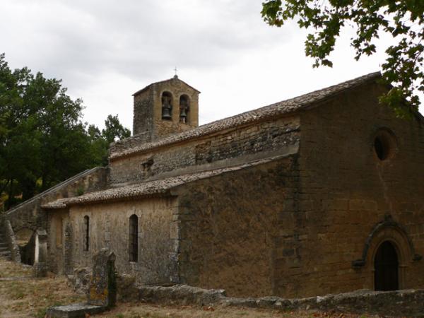 L'église de Cucuron (Luberon)