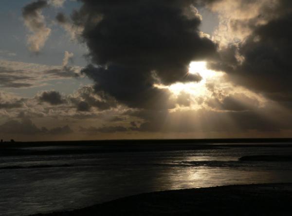 à marée montante dans la Baie du Mont-Saint-Michel