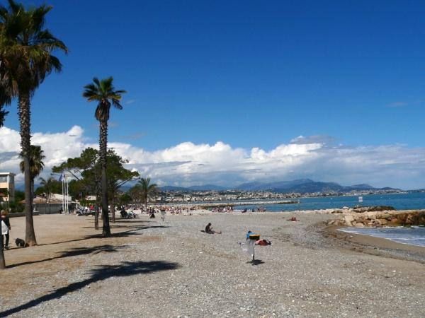 La plage de Villeneuve-Loubet
