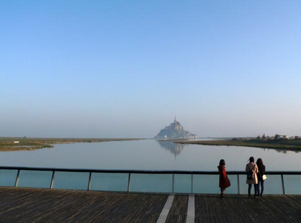 La marée monte- Vue depuis le barrage du Couesnon