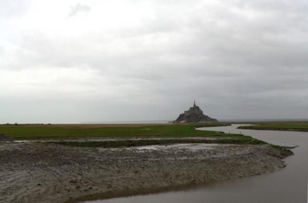 Grisaille sur le Mont-Saint-Michel