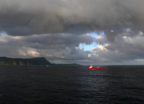 rencontre près des côtes de la Norvège
