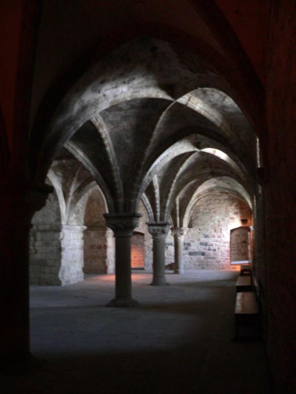 dans les entrailles du Mont-Saint-Michel