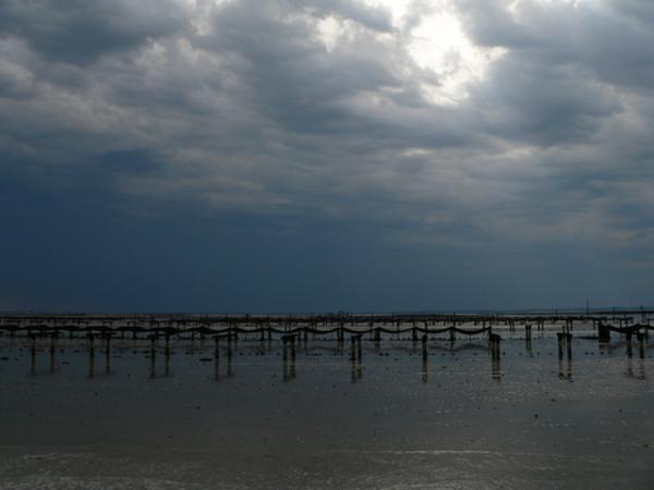 Ciel d'orage sur la Baie du Mont-Saint-Michel