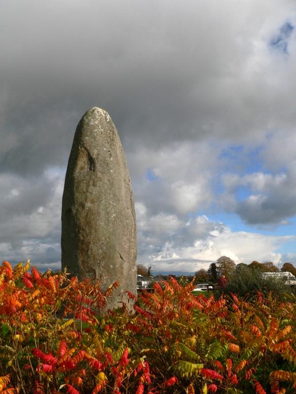 Le menhir du Champ Dolent à DOL de Bretagne