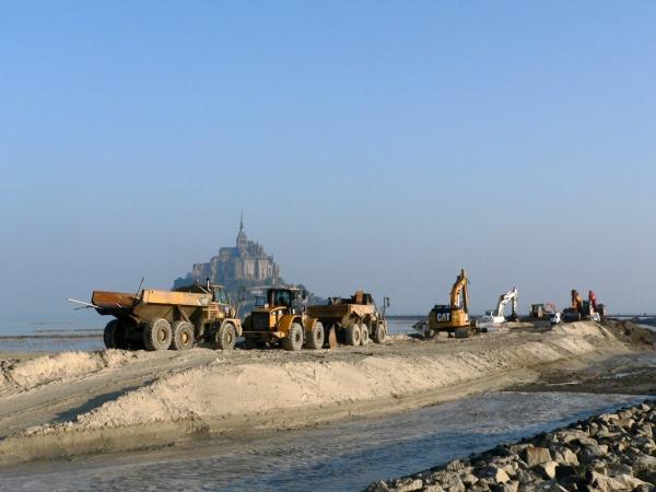 Travaux au Mt-St-Michel, c'est bientôt fini!
