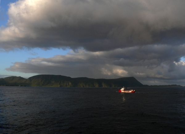 Lumière en mer de Norvège