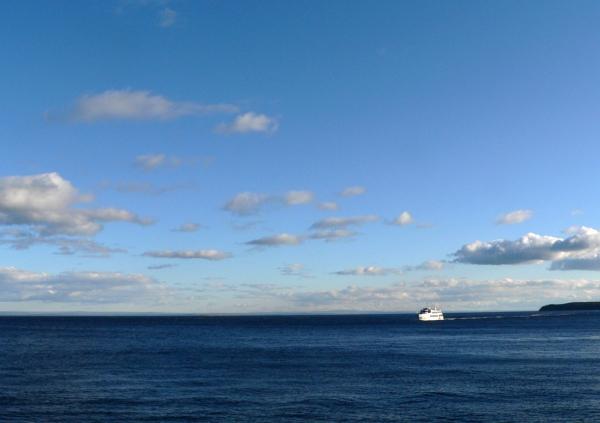 Baie de Tadoussac, retour d'une sortie vers les baleines....